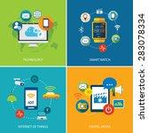 set of  technology internet of... | Shutterstock .eps vector #283078334