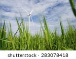 windmills for electric power... | Shutterstock . vector #283078418