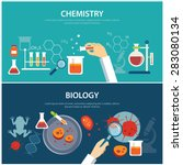 chemistry and biology education ... | Shutterstock .eps vector #283080134