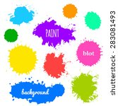 collection of paint splash.... | Shutterstock .eps vector #283081493
