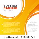 orange abstract vector business ... | Shutterstock .eps vector #283083773