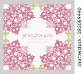 abstract vector floral... | Shutterstock .eps vector #283089440