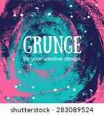 card template with hand painted ... | Shutterstock .eps vector #283089524