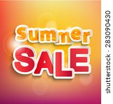 summer sale collection. vector... | Shutterstock .eps vector #283090430