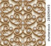 vintage gold ornament  vector... | Shutterstock .eps vector #283090493