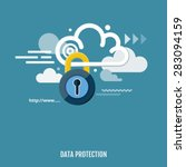 concept of cloud computing and... | Shutterstock .eps vector #283094159