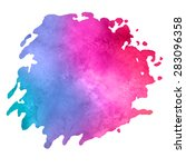 colorful watercolor stain with... | Shutterstock .eps vector #283096358
