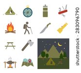 camping equipment icon | Shutterstock .eps vector #283096790