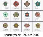 mandalas collection. vintage... | Shutterstock .eps vector #283098788