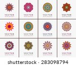 mandalas collection. vintage... | Shutterstock .eps vector #283098794
