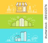 vector bright banners and... | Shutterstock .eps vector #283102076