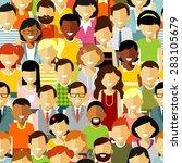 seamless pattern social concept ... | Shutterstock .eps vector #283105679