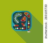 pinball flat icon with long... | Shutterstock . vector #283105730