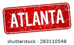 atlanta red stamp isolated on... | Shutterstock .eps vector #283110548