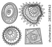 set of deco abstract elements.... | Shutterstock . vector #283118963