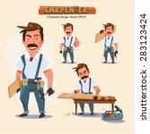 professional carpenter in... | Shutterstock .eps vector #283123424