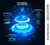 sci fi futuristic user... | Shutterstock .eps vector #283124348