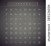arrows thin icons set | Shutterstock .eps vector #283126034