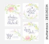 invitation card with watercolor ... | Shutterstock .eps vector #283130234