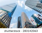 low angle view of skyscrapers | Shutterstock . vector #283142063