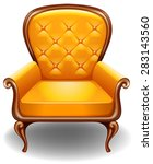 closeup luxury design of yellow ... | Shutterstock .eps vector #283143560