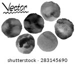 grunge black watercolor painted ... | Shutterstock .eps vector #283145690