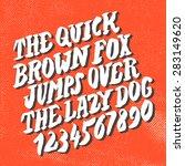 hand drawn font. handwritten... | Shutterstock .eps vector #283149620