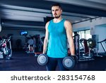 fitness instructor at the gym   ... | Shutterstock . vector #283154768