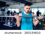fitness instructor at the gym   ... | Shutterstock . vector #283154810