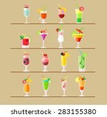 vector cocktail flat... | Shutterstock .eps vector #283155380