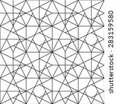 black and white geometric... | Shutterstock .eps vector #283159580