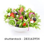Fresh Tasty Salad Isolated On...