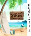 summer holidays background  ... | Shutterstock .eps vector #283163978