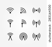 set of wireless and wifi icons... | Shutterstock . vector #283164500