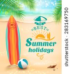 summer holidays background  ... | Shutterstock .eps vector #283169750