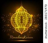 illustration of ramadan kareem... | Shutterstock .eps vector #283171970