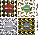 vector set of colorful seamless ...   Shutterstock .eps vector #283178414