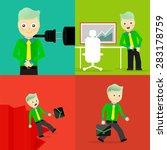 set of businessman pose... | Shutterstock .eps vector #283178759