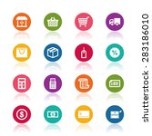 shopping icons | Shutterstock .eps vector #283186010