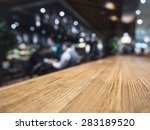 table top counter bar... | Shutterstock . vector #283189520