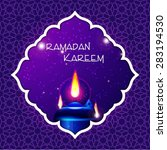 ramadan kareem greeting card  ... | Shutterstock .eps vector #283194530