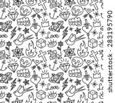 tattoo pattern. old school... | Shutterstock .eps vector #283195790
