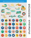 big collection of summer... | Shutterstock .eps vector #283204268