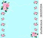 rose flowers vector | Shutterstock .eps vector #283205204