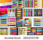 colorful modern text box... | Shutterstock .eps vector #283205258