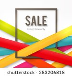 sale background with frame and... | Shutterstock .eps vector #283206818