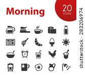 morning icons | Shutterstock .eps vector #283206974