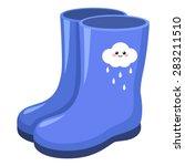 rain boots | Shutterstock .eps vector #283211510