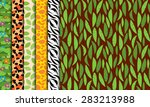 six seamless  tileable jungle... | Shutterstock .eps vector #283213988
