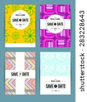 card set templates. abstract... | Shutterstock . vector #283228643
